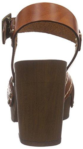 Esprit Cheri Sandal, Sabots femme Marron - Braun (220 rust brown)