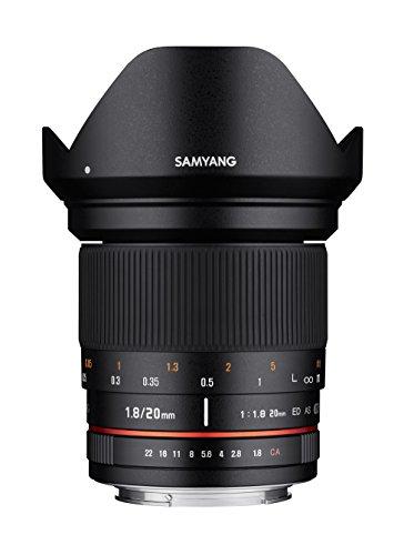 Samyang 20/1,8 Objektiv DSLR Sony E manueller Fokus Fotoobjektiv, Weitwinkelobjektiv schwarz