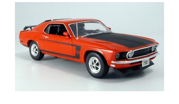 Ford Mustang Boss Rot Mattschwarz 1969 Modellauto Fertigmodell Welly 1 18 Spielzeug