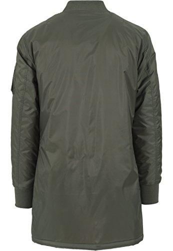 URBAN CLASSICS - Long Bomber Jacket (olive) Olive