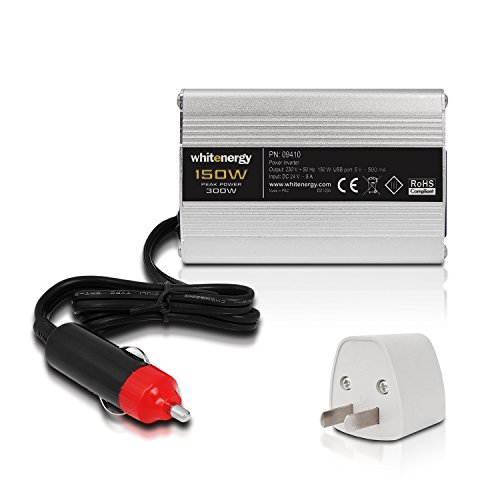 Whitenergy Power Inverter DC/AC from 24V DC to 230V AC 150W, USB