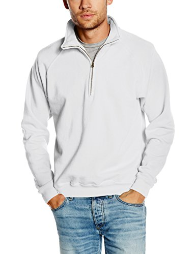 Fruit Of The Loom Men's Premium Sweater, White, Small
