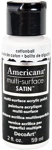 DecoArt Acrylics Multi-Purpose Paint, Cotton Ball Satin