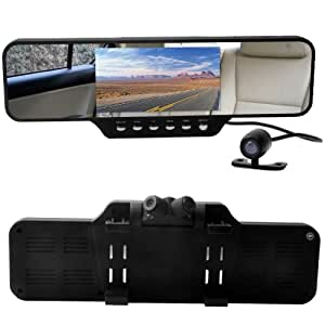 e prance new car dvr mirror rearview mirror dual amazon. Black Bedroom Furniture Sets. Home Design Ideas