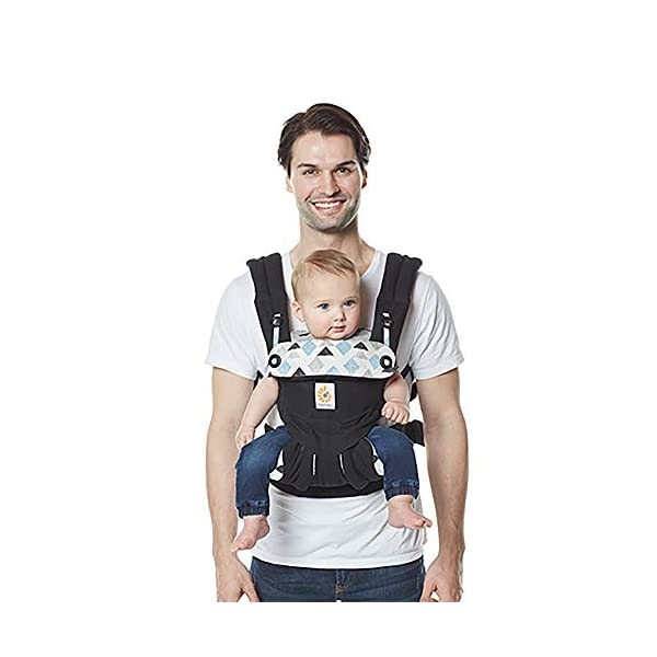 Ergobaby Baby Carrier for Toddler, 360 Collection, 4-Position Ergonomic Child Carrier and Backpack (Triple Triangles) Ergobaby Ergonomic baby carrier with 4 carry positions: front-inward, back, hip, and front-outward. The carrier is suitable for babies and toddlers weighing 5.5 to 20kg, and can be used as a back carrier. Also with insert for newborn babies weighing 3.2-5.5kg, sold separately. NEW - Maximum comfort for parent: Longwear comfort with lumbar support waistbelt and extra cushioned shoulder straps. The carrier is suitable for men and women. Maximum baby comfort - The structured bucket seat supports the correct frog-leg position for the baby. The carrier also has a padded, foldable head and neck support. Ergobaby carriers are a new take on the usual baby sling. 6