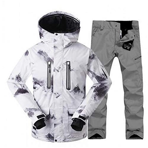 HXFNX Chaqueta De Esquí para Hombres Traje De Esquí para Hombres + Pantalones Chaqueta De Snowboard Hombres Chaqueta De Invierno para Hombre Trajes Deportivos Conjunto De Esquí,Color1