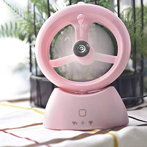 -Lade-Wasser-Sprite-Luftbefeuchter-Lüfter USB-Kreativspray-Mini-Lüfter, Rosa, a ()