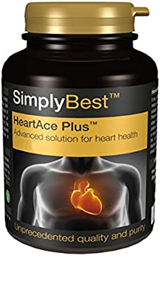 Heart Ace Plus   Supplement for Healthy Cholesterol Levels, Blood Pressure and Circulation   Premium Plant Sterols Formula With Garlic   120 Tablets   UK Manufactured by Simply Supplements
