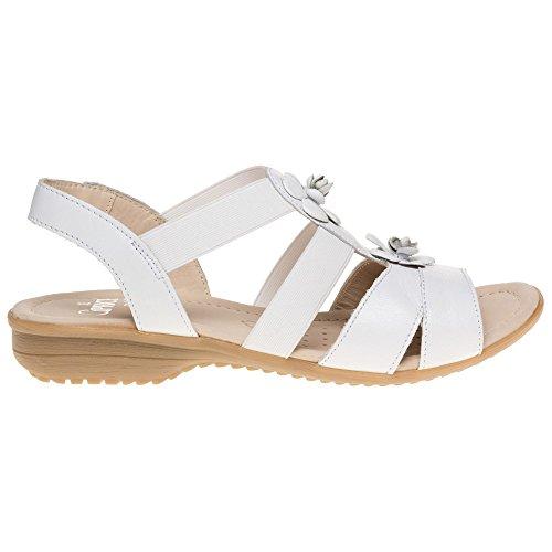 Caprice 28652 Damen Sandalen Weiß White