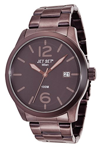 Jet Set-J6280BR - 762-Milan Men's Watch Analogue Quartz Bracelet Brown Dial Brown Steel