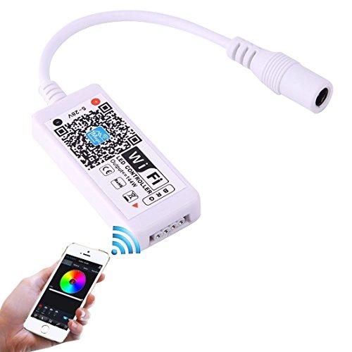 Light Controller Mini Wifi RGB LED Remote Controller, Support iOS 6 ou ultérieur et Android 2.3 ou version ultérieure, DC 5-28V