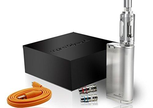 Authentische Aspire Odyssey Temp gesteuert Kit (enthält Pegasus MOD + Triton Atomizer + Micro USB Ladekabel) Brushed Chrome - Nikotinfrei