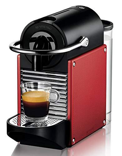 Nespresso De'Longhi Pixie EN125R - Cafetera monodosis de cápsulas Nespresso, 19 bares, apagado automático, color rojo carmín