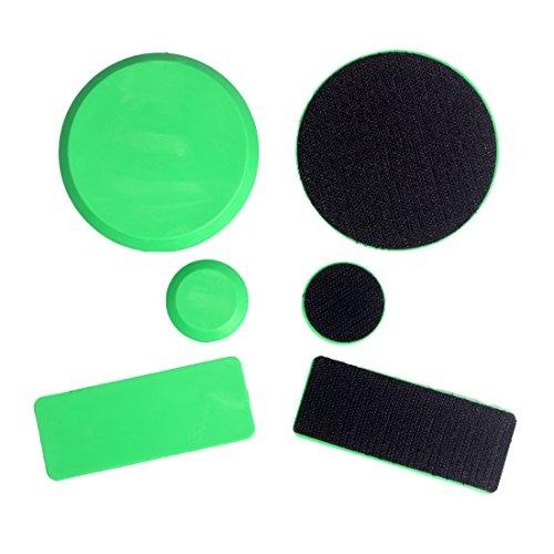 Andux Zone pucks di skateboard - attenersi ai guanti sostituzione protezioni (nero arancione rosa verde) STHK-01 (verde)