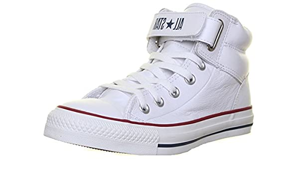 0acc35e4af59 Converse 126126 Unisex Leather Loopback High Top Velcro Strap - Removeable   Amazon.co.uk  Shoes   Bags