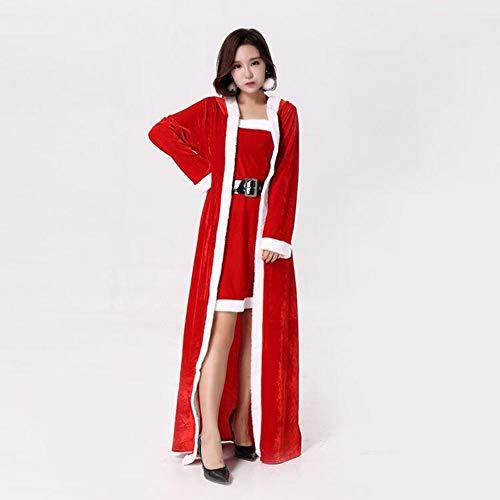 Weihnachtsfeier Erwachsene Kostüm Für - CVCCV Weihnachten Kostüme Erwachsene Schal Cape Umhang Cape Weihnachtskostüm Weihnachtsfeier Bühne Kostüm Fasermaterial Damen Fit One Size