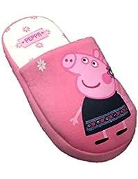 Peppa Pig - Las niñas / niños rosa y crema zapatillas zapatillas, todos los tamaños (5-6 años, 29-30 Eur, Rosado)