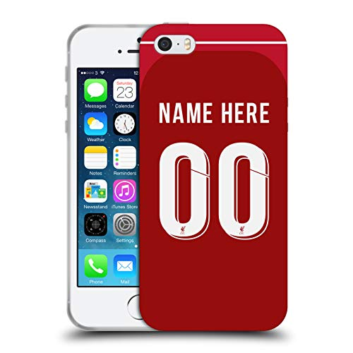 Head Case Designs Personalisierte Individuelle Liverpool Football Club Home Kit 2018/19 Soft Gel Huelle kompatibel mit iPhone 5 iPhone 5s iPhone SE