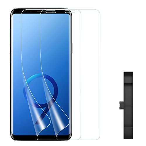Galaxy S9 Screen Protector [2-PACK] SmartDevil [Full coverage][Bubble-Free][Case-Friendly Design]Ultra Slim Korean materials Screen Protector Film[NOT Glass][High Definition][3D Touch Compatible]for Samsung S9