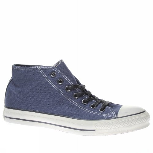 Converse All Star Clean Mid Canvas Distressed 131071c Herren Schuhe Dunkelblau (Schuhe Canvas Distressed)