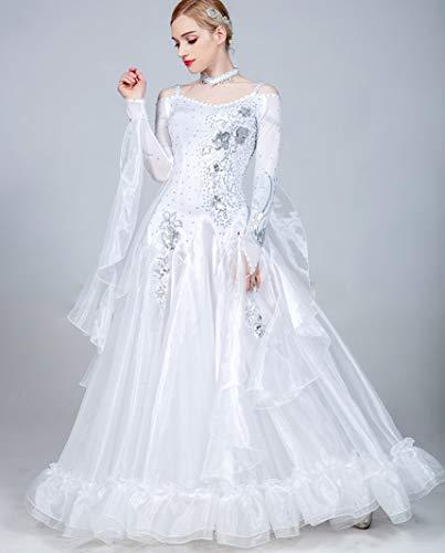 SMACO Frauen Standard Gesellschaftstanz Moderne Walzer Tango Tanzen Kleidung International Dance Kostüm Wettbewerb Kleider,H,M