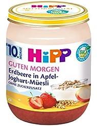 Hipp Guten Morgen, Erdbeere in Apfel-Joghurt-Müesli, 1er Pack(1 x 160g)