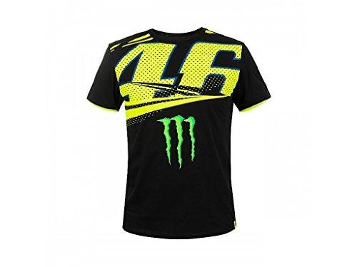 VR46 T-Shirt Monster Black VR|46 Rossi Official Racing Apparel, M