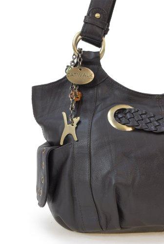 Umhängetasche - Leder - Marianne von Catwalk Collection - Große: B: H: T: cm Braun