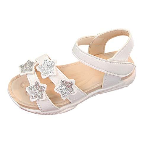 SANFASHION Baby Mädchen Sandalen Kinder Stern Pailletten Bling Strand Schuhe Prinzessin Kostüm Party Geburtstag Hausschuhe Outdoor Sandaletten