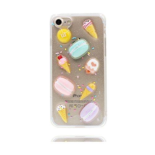 Custodia iPhone 6 Plus, [ silicone trasparente di Slim luce pesa Thin ] cover iPhone 6s Plus Copertura, 3D Gelato Case iPhone 6 Plus /6S Plus 5.5 Dolce # 1