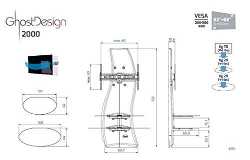 Meliconi Ghost Design 2000 Supporto Per Tv Lcd Al Plasma.Meliconi Ghost Design 2000 Supporto Da Parete Per Tv Plasma Lcd