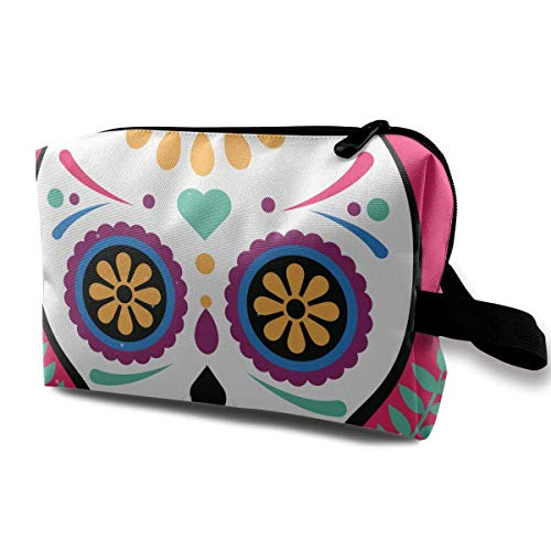Mexican Skull Mask Small Travel Toiletry Bag Super Light Toiletry Organizer for Overnight Trip Bag