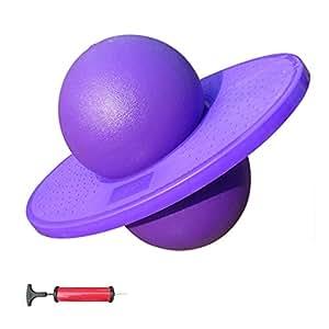 Ballon sauteur Fitness Ball épaisse anti-déflagrant ballon de gym / ballon d'équilibre / adulte boule sautante / enfants Bouncing Ball / Lolo Ball / Rock N Hopper / Pogo Ball - Envoyer avec pompe (violet)