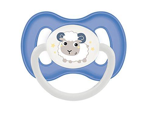 Canpol Kirschform Beruhigungssauger Latex Bunny & Company (Blau, 6-18 M)