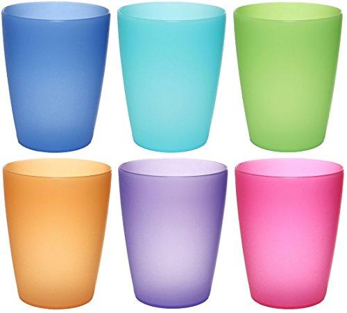 Colore smerigliato 50 bicchieri riutilizzabili Plastica rigida in polipropilene 20cl