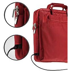Navitech Étui de Transport Rouge Compatible avec Lenovo Chromebook S330