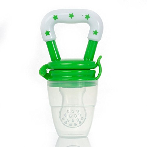 Tinny Tots Silicone Baby Food/ Fruit Feeder/ Baby Teether/ Baby Soother (Green)