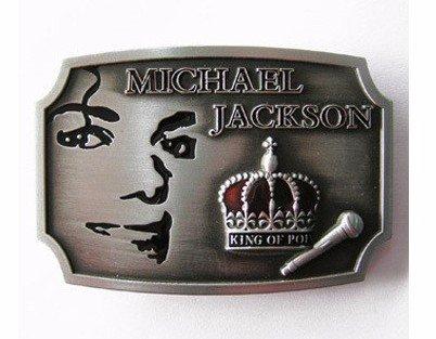 Preisvergleich Produktbild western new Buckle belt cowboy gurtelschnallen Michael Jackson King of Pop Krone rot