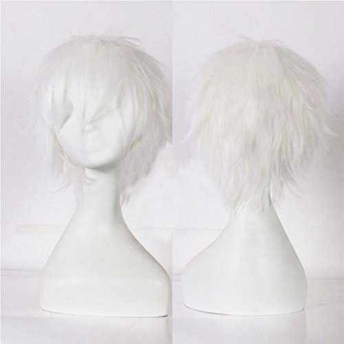 Unisex Short Cosplay Full Wigs Natural Layer Straight Hair Anime