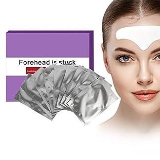 Antiarrugas Máscara, 10 UNIDS Mascarillas hidratantes y rejuvenecedoras para la cara de la frente Líneas de Parche Hidratante Piel Reparar Cojín de la Etiqueta Engomada