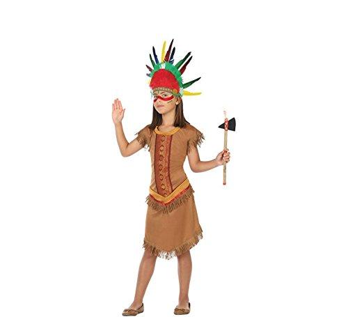 ATOSA 56947 Indianerin Kostüm für Mädchen Costume Indian Woman 3-4, Braun, 3 a 4 años