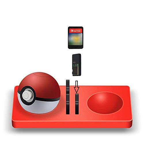 HKFV Silikonkissen Elf Ball Plus für Silikonkissen Switch-Spielkarten + Pokeball Lets Go Pikachu Eevee Game (Tv-tether)