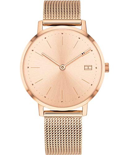 Tommy Hilfiger Damen Analog Quarz Uhr mit Edelstahl Armband 1781926