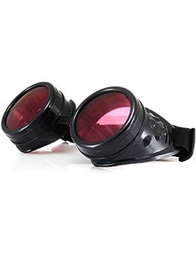 4sold Steampunk rosa con picos cibernéticos de cobre plata Cyber Goth Rave Gafas Sol plus como victoriano Vintage...