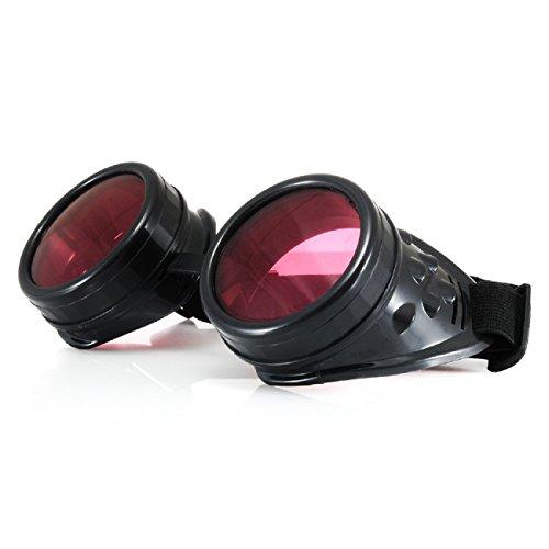 4sold Cyber gafas STEAMPUNK Ultra Negro Punk Rave gótica como gafas de sol