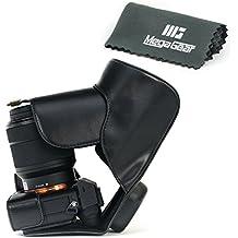 """MegaGear """"Ever Ready"""" Funda Protectora de Cuero de la Cámara, Bolso para Sony Alpha a7 II, a7R II, & a7S II with 28-70mm Lens Cámara Compacta del Sistema (Negro)"""