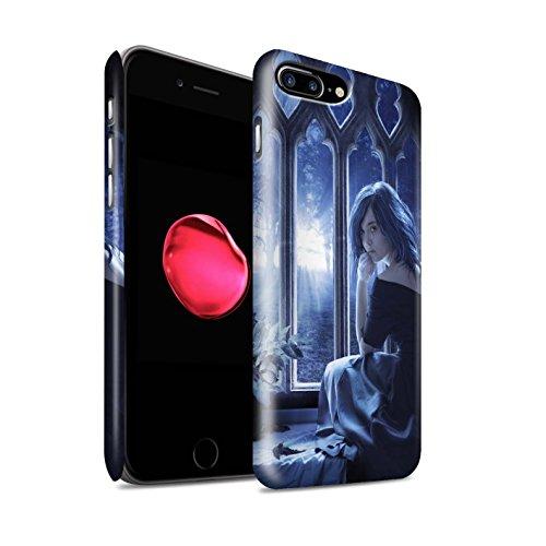 Offiziell Elena Dudina Hülle / Matte Snap-On Case für Apple iPhone 8 Plus / Glasscherben Muster / Liebe Kunst Kollektion Getrocknete Blätter