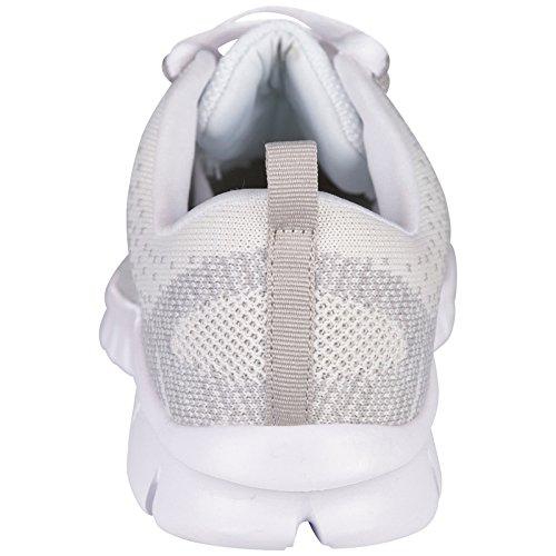 Kappa caria, Baskets Basses Mixte Adulte Blanc - Weiß (1014 WHITE/L`GREY)