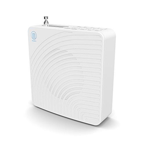 Majority Chesterton DAB/DAB+ Digital FM Portable Radio / Alarm Clock / Rechargeable Battery / Mains Powered - White