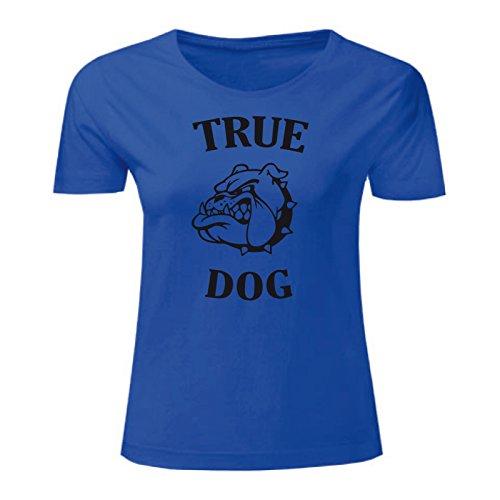 Art T-shirt, Maglietta True Dog, Donna Blu